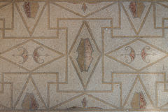 Mosaic in the ruins of the Roman villa in the ancient city of Lilibeo stock photo