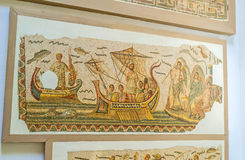 The mosaic sailing galley Stock Images