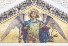 Mosaic of Saint Michael royalty free stock images
