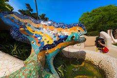 Mosaic Salamander - Park Guell - Barcelona Stock Image