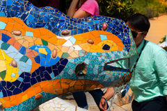 Mosaic Salamander - Park Guell - Barcelona Stock Photo