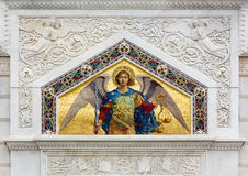 Mosaic on San Spiridione Orthodox Church in Trieste Stock Photo