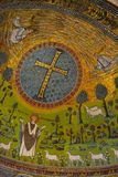 Mosaic Sant'Apollinare Italy. The Basilica of Sant' Apollinare in Classe is an important monument of Byzantine art near Ravenna, Italy. Being in the Unesco World Stock Images