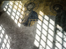 Mosaic in Santa Sofia Mosque Stock Images