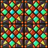 Mosaic seamless background Royalty Free Stock Image