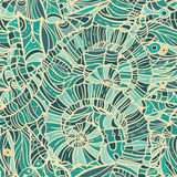 Mosaic seamless blue pattern Stock Images