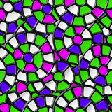Mosaic seamless pattern. Stock Image