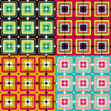 Mosaic seamless  pattern. Background in bright colors Stock Photography