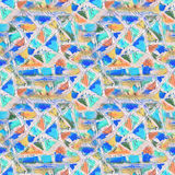 Mosaic seamless pattern. Abstract stained-glass mosaic background. Geometric pattern background Royalty Free Stock Photography