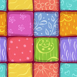 Mosaic seamless pattern background Stock Image