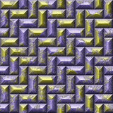 Mosaic seamless pattern of purple and gold tiles Royalty Free Stock Photography