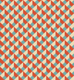 Mosaic seamless pattern in retro style. Royalty Free Stock Photo