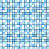 Mosaic seamless pattern. square tile with pastel blue colors Royalty Free Stock Images