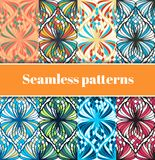 Mosaic Seamless Patterns Set Stock Photos