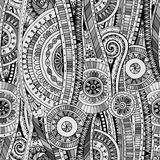 Mosaic seamless tribal doddle ethnic pattern. Royalty Free Stock Photos