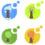 Mosaic seasonal icons Stock Images