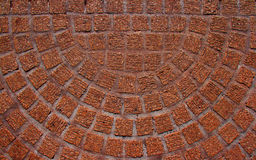Mosaic semicircular terracotta floor. Lovely terracotta coloured mosaic floor tiling. Would make a lovely background Stock Photography