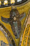 Mosaic Seraphim at the dome museum in Istanbul Turkey stock photos