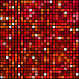 Mosaic series. Red random spots mosaic element Royalty Free Stock Images