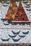 Mosaic ship Royalty Free Stock Image