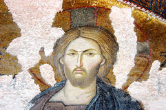 Mosaic showing Jesus, Chora church, Istanbul Royalty Free Stock Photography
