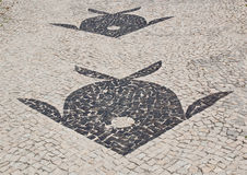 Mosaic of sidewalk Barra da Tijuca in Rio de Janeiro Royalty Free Stock Image