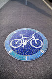 Mosaic signs round for cycling Royalty Free Stock Images