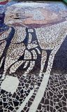 Mosaic. A mosaic situated in an art school Royalty Free Stock Photo
