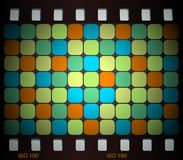 Mosaic slide. In retro colors Royalty Free Stock Image