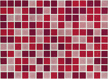 Mosaic of small square stone slabs red Royalty Free Stock Photos