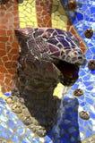 Mosaic snake head closeup Stock Photography
