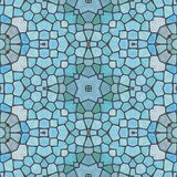 Mosaic soft bright blue decorative symmetrical patten stock photography