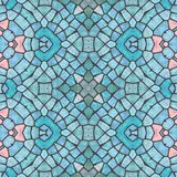 Mosaic soft bright blue decorative symmetrical patten royalty free stock photos