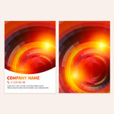 Mosaic spectrum business card Royalty Free Stock Photos