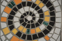 Mosaic Spiral On The Floor. Mosaic spiral seen on a beautiful floor which was handmade Royalty Free Stock Photos
