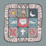 Mosaic Spirit Royalty Free Stock Images