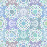 Mosaic spirograph pattern Stock Images