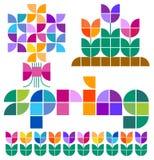 Mosaic Spring Set/eps Royalty Free Stock Photos