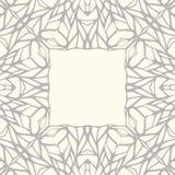 Mosaic square ornamental frame Stock Photos