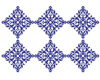 Mosaic square pattern. Mosaic pattern in dark blue color Royalty Free Stock Photo