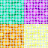 Mosaic square patterns Stock Photos