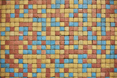 Mosaic. Of square tessellation and colors for backgrounds Stock Photo