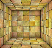 Mosaic square tiled grunge empty space in multiple color. 3d mosaic square tiled grunge empty space in multiple color Royalty Free Stock Images