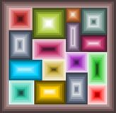 Mosaic of squares Royalty Free Stock Photography