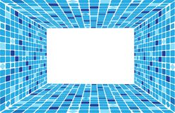 Mosaic of squares in perspective. Vector illustration Royalty Free Stock Photos