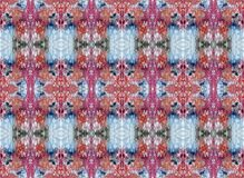 Decorative red and blue pattern rug.. Acrylic background stock illustration