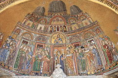 Mosaic in St. Mark Cathedral facade Royalty Free Stock Image