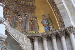 Mosaic at St. Mark's Basilica, Venice Italy Stock Photography