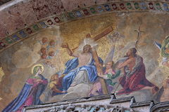 Mosaic at St. Mark's Basilica, Venice Italy Royalty Free Stock Images