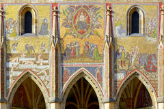 Mosaic of St. Vitus Cathedral. Stock Image
